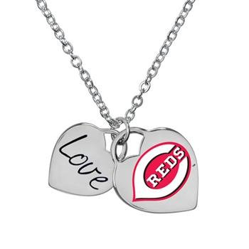 (Game Time 101580 MLB Cincinnati Reds Heart Necklace)