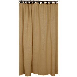 Amazon Cotton Burlap Shower Curtain By The Country House
