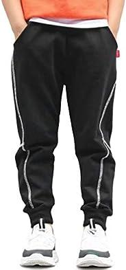 TERODACO 1/2 Pack Boys Cotton Sweatpants Kids Joggers Pants, Age 4T-12 (4-12 Years)