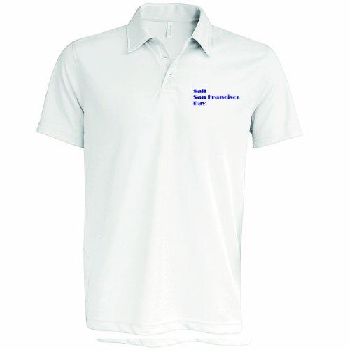 Herren Polo Shirt, SAIL sanfranciso Bay, weiß, MED bis XXL