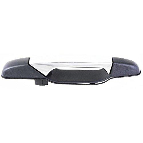 Door Handle compatible with 2013 Chevy Avalanche Black Diamond LS 5.3L Front Right Side Exterior Plastic Black bezel w/chrome lever ()