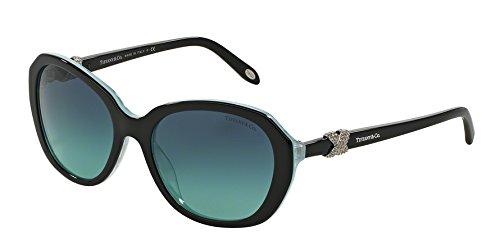 Tiffany TF4108B 81939S Black / Striped Blue TF4108B Butterfly Sunglasses Lens - Tiffany Butterfly Sunglasses