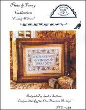 Kindly Welcome Cross Stitch Chart