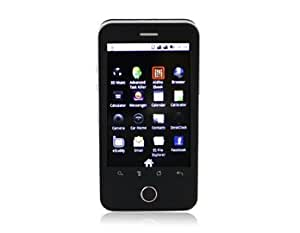 "Android A3000 3.3"" TFT Touch Screen Quad-band Dual SIM Single Standby Smart Cell Phone with FM JAVA WIFI Bluetooth 2.0MP Camera and 16GB TF Card Support (Black)"