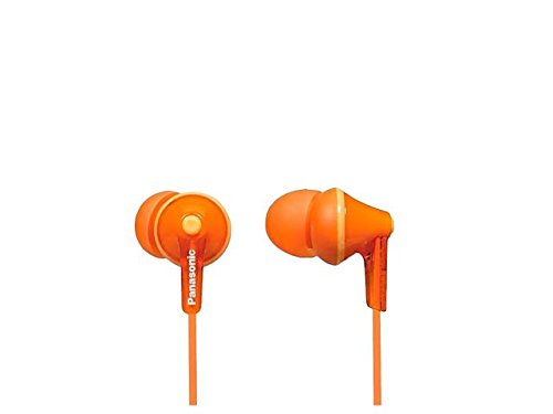 Panasonic RP-HJE125E Wired Earphones - Wired, Orange (RP-HJE125-D)