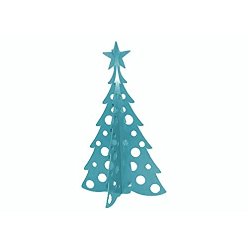 large christmas tree 3d slide together tabletop centerpiece christmas decoration wintertime teal - Teal Green Christmas Decorations