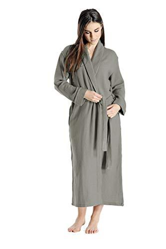 Cashmere Boutique: 100% Pure Cashmere Robe for Women (Color: Medium Gray, Size: Small/Medium) (Speciality Apparel)