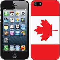 Cellet Black Proguard with Canada Flag for Apple iPhone 5 Hard Case Cover Snap-On