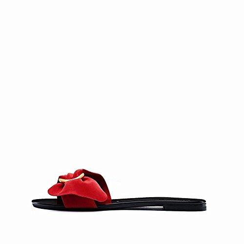Plates Ouvert Sandales Été Pur Pantoufles Arc Couleur C Toe NSX Chaussures Femmes w0SqIx
