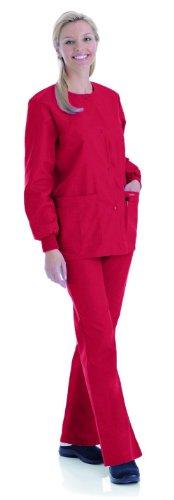 (Landau Women's Crew Neck Warm-Up Solid Scrub Jacket Xx-Large True)