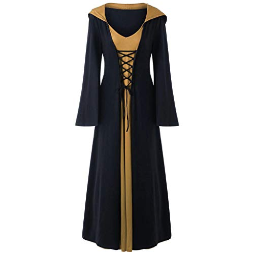 LENXH Women's Robes Stitching Dress Halloween Costume