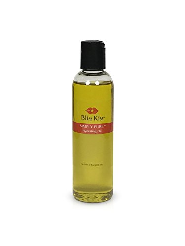 Bliss Kiss Simply Pure Hydrating Oil - 4 oz Bottle - Vanilla Scent - Nails, Cuticles, Skin and Hair - Best Value