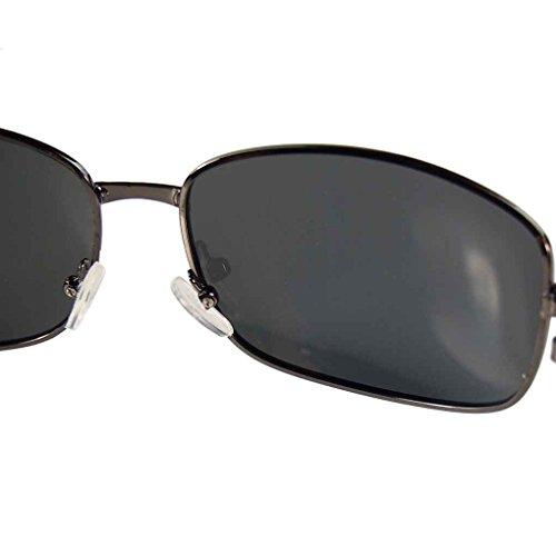 et vert Meisijia de unisexe objectif lunettes foncé polarisées métal Gun Lunettes monture soleil Cadre vBvWnq5PRx