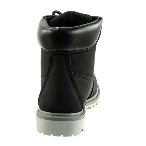 Gris Bloc Angkorly Montante Chaussure Cm Talon Mode 3 Noir Bottine Rangers Femme q7U0Pqw