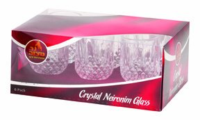 Neronim Votive Crystal Glass Cups / 6 Pack