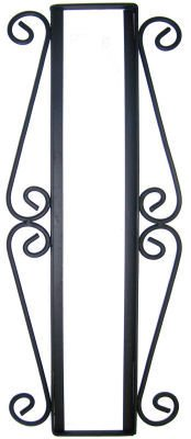 Fine Crafts Imports Wrought Iron Vertical House Number Frame Desert 4