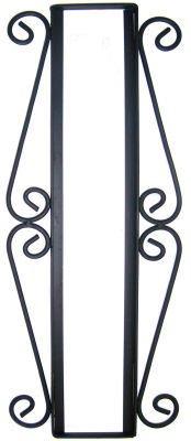 Desert Iron - Fine Crafts Imports Wrought Iron Vertical House Number Frame Desert 4