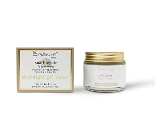 - The Crème Shop Korean Beauty Skincare Advanced Moisturizing and Cool Hydrating Anti-acne, Anti-inflammatory, Brightening and Relief Face Lift, Anti-aging Overnight Gel Face Mask(Snail Repair)