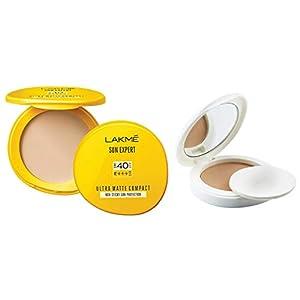 Lakmé Sun Expert Ultra Matte SPF 40 PA+++ Compact, 7g And Lakmé Perfect Radiance Compact, Golden Medium 03, 8g