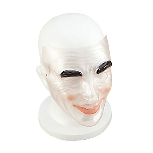 Transparent Halloween Mask (Bristol Novelty PM064 Transparent Male Mask, Multi-Colour, One)