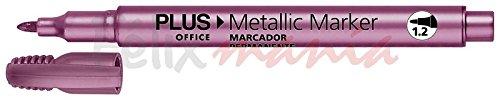 36x Office Rotulador Permanente Plus Office 36x Metallic Marker 1.2mm Color Purpura 3b9bd9