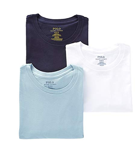 Classic Fit Cotton T-Shirt 3-Pack Navy/Blue/White