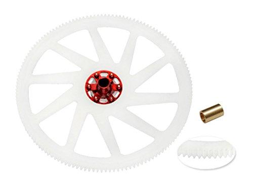 Microheli CNC Delrin Main Gear w/ Aluminum Hub set (RED) - BLADE 250 CFX - Delrin Main Gear