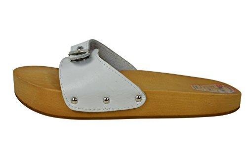 Buxa Damen Schwarz Anti-Cellulite und Rückenschmerzen Holz und Leder Sandalen / Clogs, Größe 41