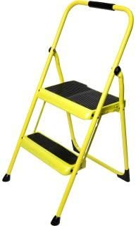 200 lb Capacity Stepladder 2-Step Type III Yellow Steel Step Stool