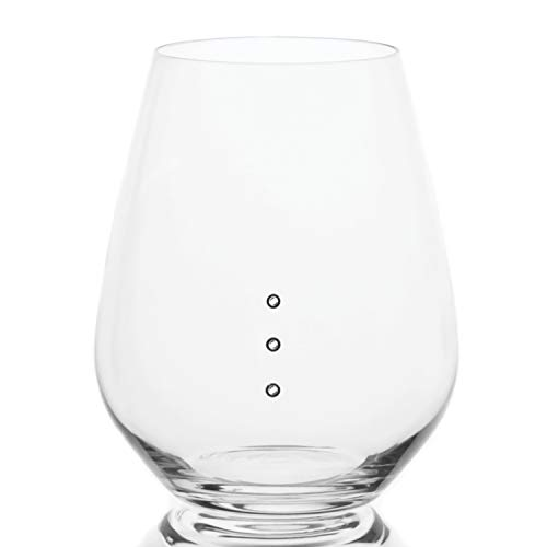 Elegance Stemless Measuring Wine Glasses with Measuring Marks of 4, 6, and 8 ounces: Great for Portion Control, and Divvying up Wine for Parties, Available in 1-Packs, 2-Packs, 4-Packs, and 6-Packs