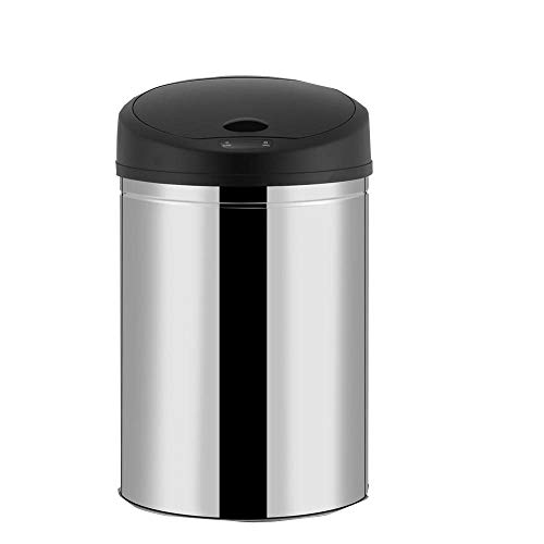 OHO New 8-Gallon 30L Trash Can Staninless Steel Touch-Free Sensor Automatic for Kitchen, Office, Meeting Room