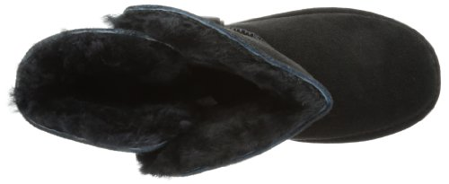Bearpaw Abigail - Botas planas, talla: 42, color: Negro (Schwarz/Black)