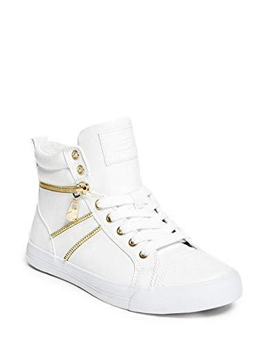 G BY GUESS ORYAN Women Sneakers (7.5 M, WHITE MULTI) (G By Guess Womens Nana Whipstitch Crossbody)