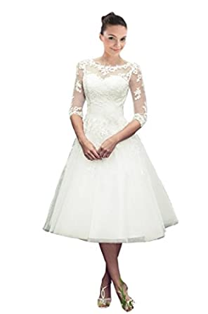 Short Length Wedding Dresses with Sleeves