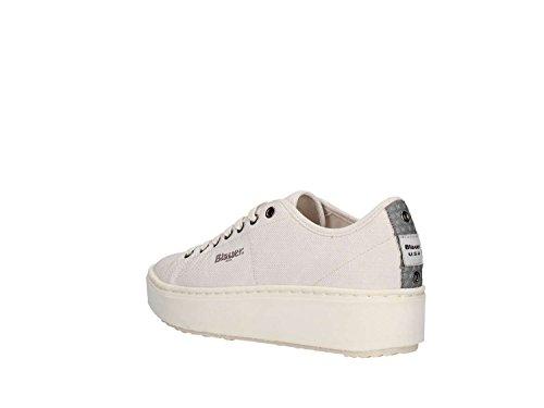 Mells05 Donna Sneaker Bianco Modello Tessuto Canvas Gomma Blauer 36 In Taglia Antiscivolo Fondo Basse Scarpe qfTxnXF