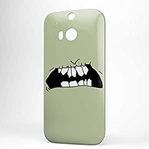 Smiley HTC One M8 3D wrap around Case - Design 14