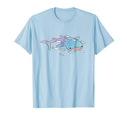 (Cute Kawaii Aesthetic Blue Whale Shark Ocean T-Shirt Gift)