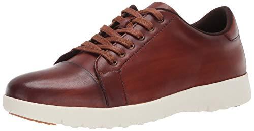 STACY ADAMS Men's Hawkins Cap-Toe Lace-Up Sneaker, Cognac, 12 M US