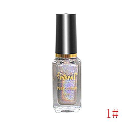 - Nail Effect Nail Powder No Polish Foil Nails Art Glitter Silver