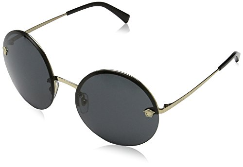 Versace Womens Sunglasses Gold/Grey Metal - Non-Polarized - - Shades Women Versace