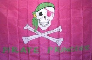 (NEOPlex 3' x 5' Pirate Princess Pink Flag )