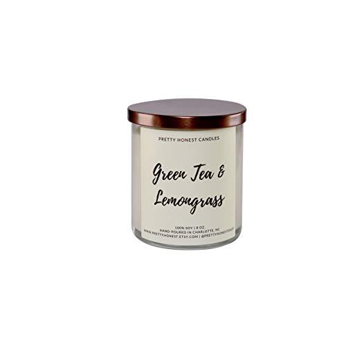 Green Tea & Lemongrass Soy Candle - 8oz Jar