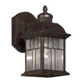 portfolio motion activated outdoor wall lantern bronze finish. Black Bedroom Furniture Sets. Home Design Ideas