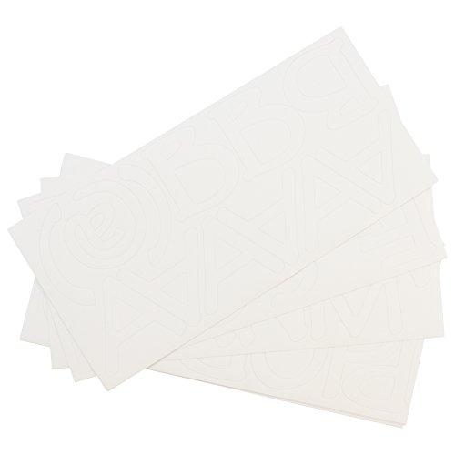 Westcott carta Craft permanente letras de vinilo, pergamino, 2', color blanco (15820–001)