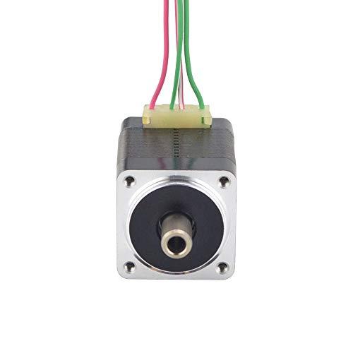 XIANYUNDIAN Dual Shaft Nema 8 Stepper Motor Hollow Shaft Bipolar 1.5Ncm(2.12oz.in) 0.49A 4-Lead for DIY CNC 3D Printer Motor Repair Parts