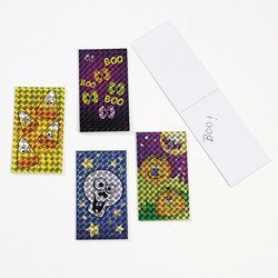 2 Dozen (24) Mini LASER Prism HALLOWEEN NOTEPADS/Memo/NOTE/PADS/PARTY FAVORS/Prismatic/Classroom Giveaways/TRICK OR TREAT