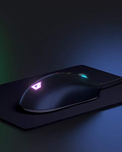 AUKEY Knight Gaming Mouse, RGB Wired Gaming Mouse with 10000 DPI, 8 Programmable Buttons, RGB Lighting Effects, Macros, Fire Button Gaming Mice for PC and Mac 31dSPDeYb5L