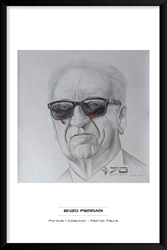 - Artography Limited Enzo Ferrari by Patrick Faure- Framed Formula 1 Racing Portrait Wall Art (25