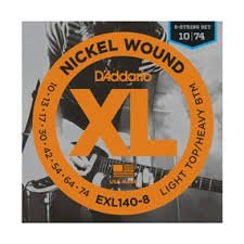 D'Addario EXL140-8x5 , XL Nick Rnd Wnd, Light Top/Hvy Bot, .