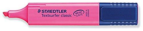 Staedtler Textsurfer Classic Highlighter Inkjet-safe Line Width 2.5-4.7mm Pink Ref 36423 [Pack of 10]